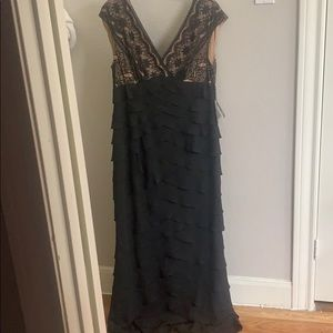 Black and nude full length dress